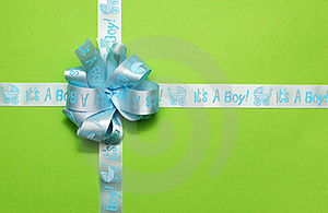 Tied Gift Light Blue Ribbon Royalty Free Stock Images - Image: 18682079
