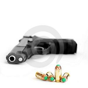 Bullet And Gun Stock Image - Image: 18683071