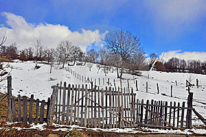 Wooden Fence Transylvania Household Royalty Free Stock Photography - Image: 18684677