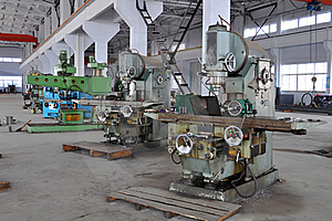 Factory Workshop Panorama Stock Photos - Image: 18688263