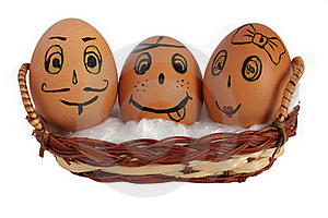 Eggs In A Basket Royalty Free Stock Images - Image: 18690049