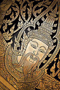 Traditional Thai Style Painting Art Royalty Free Stock Photo - Image: 18691485