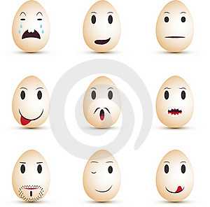 Emoticons Eggs Royalty Free Stock Images - Image: 18691859