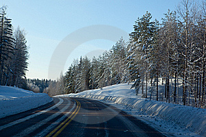 Scandinavian Route Royalty Free Stock Photo - Image: 18693185