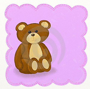 Teddy Bear - Childish Style Royalty Free Stock Photos - Image: 18693308
