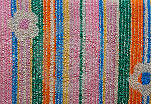 Close Up Of The Color Fabric Pattern Stock Photography - Image: 18693422
