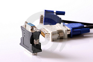 DVI/D-SUB Adapter Stock Photography - Image: 18694282