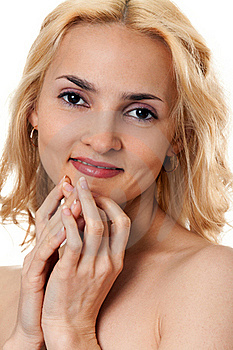 Portrait Of A Beautiful Blonde Royalty Free Stock Image - Image: 18694606