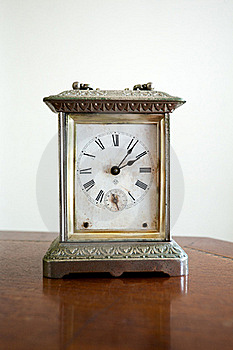Mottled Classic Clock Stock Photos - Image: 18694703