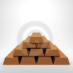 Pile Of Golden Bullion Royalty Free Stock Image - Image: 18695136