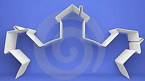 Symbolic House Royalty Free Stock Image - Image: 18695316