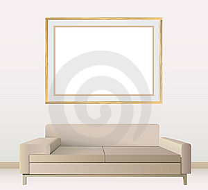 Empty Frames On Wall Royalty Free Stock Photography - Image: 18697237