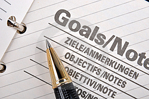 Goals Page In Notebook Stock Photos - Image: 18697773