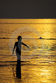 Golden Sea Royalty Free Stock Photography - Image: 18698447