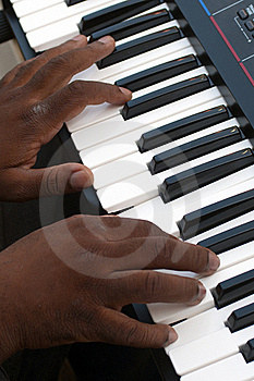 Playing Electronic Organ Royalty Free Stock Photos - Image: 18698698