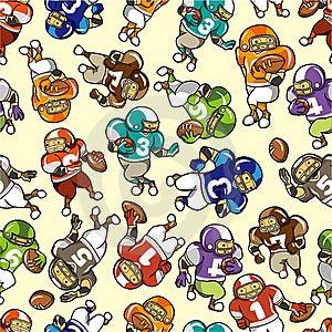 Seamless Football Pattern Stock Photo - Image: 18699750