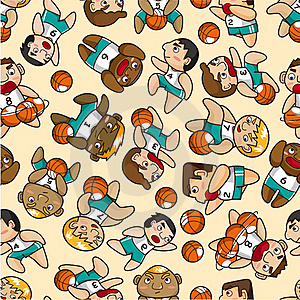 Seamless Basketball Pattern Stock Photography - Image: 18699752