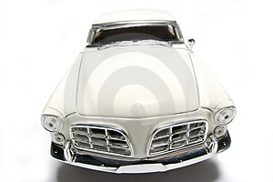 1956 Chrysler 300B Metal Scale Toy Car Fisheye Frontview Royalty Free Stock Photo - Image: 1873525