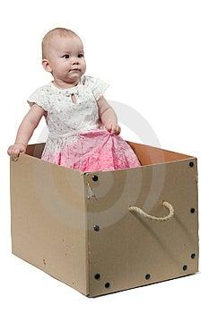 Bambino nella scatola Fotografia Stock Libera da Diritti