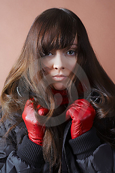 Portrait Of The Cold Girl Royalty Free Stock Image - Image: 1878816