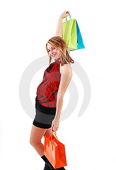 Shopping Girl Royalty Free Stock Image - Image: 18700186