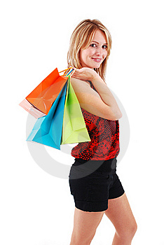 Shopping Girl Royalty Free Stock Images - Image: 18700189