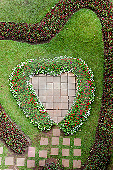 Heart Shape Garden Royalty Free Stock Photos - Image: 18700838