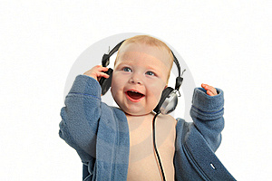 Child With Headphones Stock Image - Image: 18703211