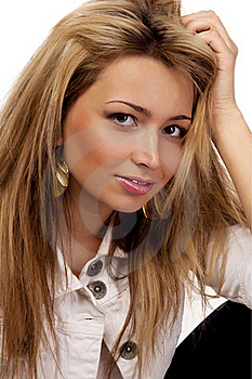 Looking Women With Blond Hairs, Isolated Stock Photography - Image: 18706302