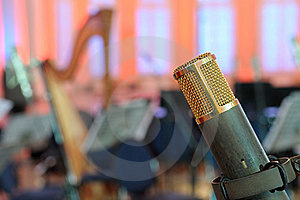 Microphone In A Concert Hall. Royalty Free Stock Photo - Image: 18710325