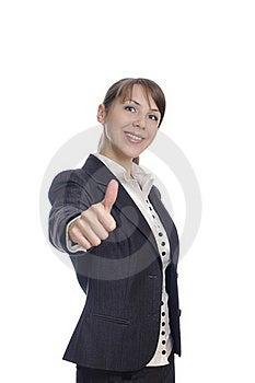 Woman With Ok Stock Photos - Image: 18711733