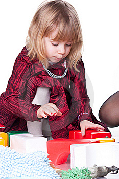 Child Playing With Blocks Royalty Free Stock Photos - Image: 18712068