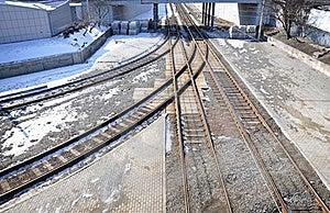 Railway Junction Stock Image - Image: 18713001