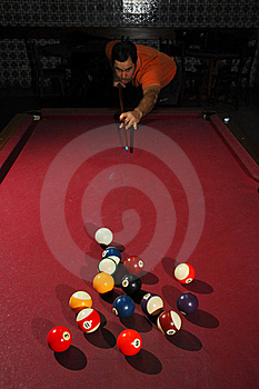 Person Playing Snooker Royalty Free Stock Photography - Image: 18714357