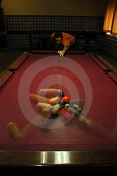 Person Playing Snooker Stock Photography - Image: 18714382