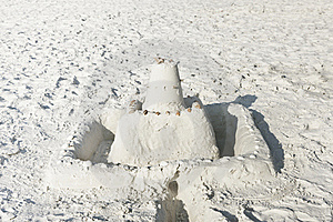 Sand Castle On A Sunny Beach Stock Photography - Image: 18715792
