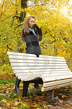 Woman In Autumn Royalty Free Stock Image - Image: 18718716