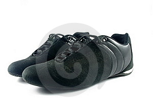 Black Sport Shoes Stock Image - Image: 18720411