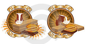 Chocolate Waffle Advertising Banner Royalty Free Stock Images - Image: 18720899