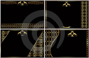 Golden Luxury Style Banner Visit Card Royalty Free Stock Images - Image: 18721029