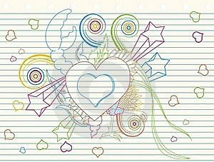 Love Doodle Stock Photos - Image: 18722323
