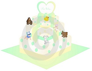 A New Baby Cake Illustration Stock Photo - Image: 18722650
