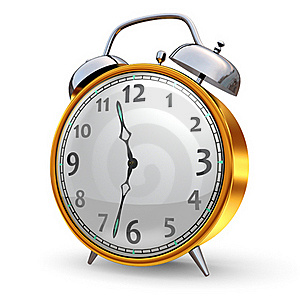Gold Alarm Clock Royalty Free Stock Images - Image: 18723049