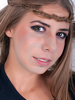 Teenage Girl Smiling Stock Image - Image: 18723261
