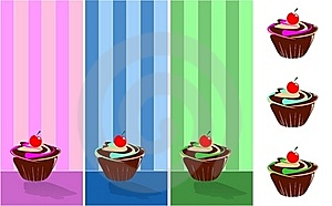 September Muffin Decorated With Wallpaper Wallpape Stock Images - Image: 18724734