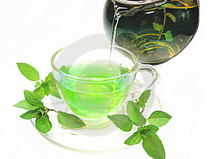 Green Herbal Tea With Fresh Mint Royalty Free Stock Images - Image: 18724919