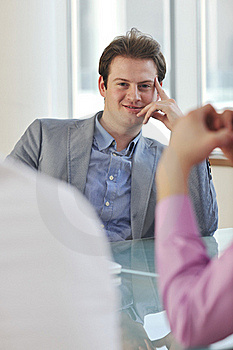 Young Business Man Alone In Conference Room Stock Images - Image: 18726394