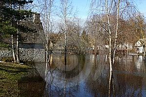 Spring Flood Stock Image - Image: 18727361