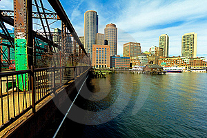 Boston Financial District Royalty Free Stock Photography - Image: 18727507