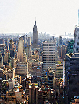 Manhattan Skyline Royalty Free Stock Photography - Image: 18731307